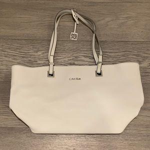 Calvin Klein Scarlett Saffiano Leather Tote Bag